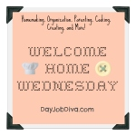 welcomehomewednesday card for djd
